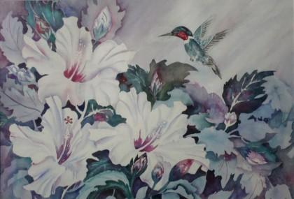 Hummingbird In Paradise